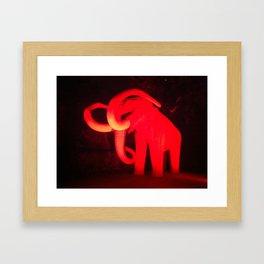 Elephant on fire:. Framed Art Print