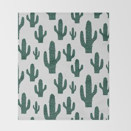 Cactus Crowd Throw Blanket