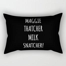 Maggie Thatcher Milk Snatcher! Rectangular Pillow