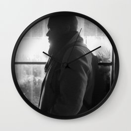 Man in front of Flowers Shop, E Wall Clock