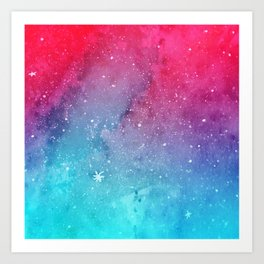 Polarlight Galaxy Art Print