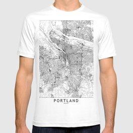 Portland White Map T-shirt