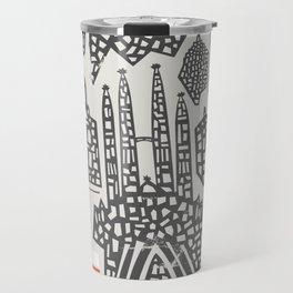 Barcelona Cityscape Travel Mug