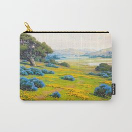 A Spring Morning, Poppies and California Bush Lupine by John Marshall Gamble Carry-All Pouch