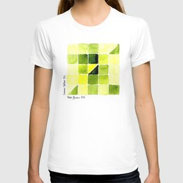 Color Chart - Lemon Yellow (DS) and Sap Green (DS) T-shirt