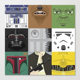 Starwars combo Canvas Print