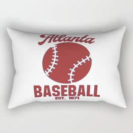 Atlanta Baseball Baseball Bat USA Rectangular Pillow