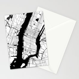 New York City Minimal Map Stationery Cards