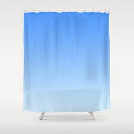 Sky Blue Gradient Shower Curtain