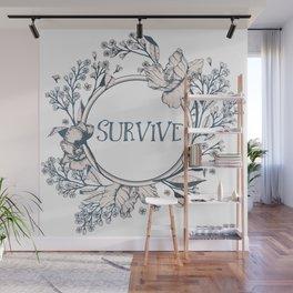 SURVIVE - A Floral Print Wall Mural