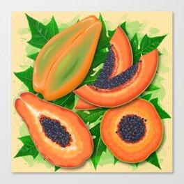 Papaya Party Canvas Print