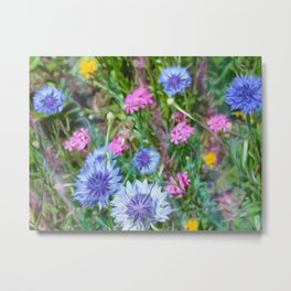 Cornflower Party Metal Print