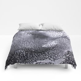 Black and white marble Comforters