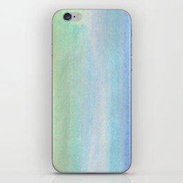blue/green iPhone Skin