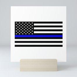 Blue Lives Matter Thin Blue Line Mini Art Print