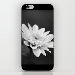 Black and White Flower iPhone Skin
