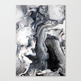 Marble B/W/G Canvas Print
