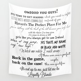 Legally Blonde Musical Quotes Wall Tapestry