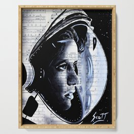 The First mother in space  Anna Lee Fisher Serving Tray