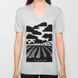 strawberry field Unisex V-Neck