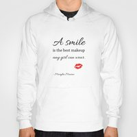 marylin monroe Hoodies featuring Marylin monroe Quote typography  by Home Art & Beyond