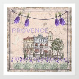 Provence France - my love  - Lavender and Summer Art Print