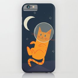 Floating Space Cat iPhone Case