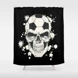 Football Skull - Soccer Skull Shower Curtain