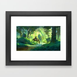 Link and the Forest Temple Framed Art Print