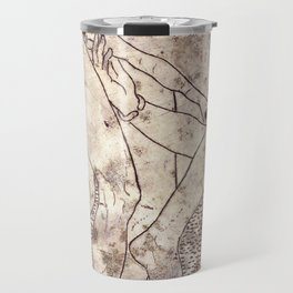 Nude couple. Inner casing of mirror from Corinth -320 BC Travel Mug