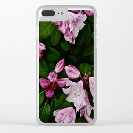 Spring Pink Rhododendron Clear iPhone Case