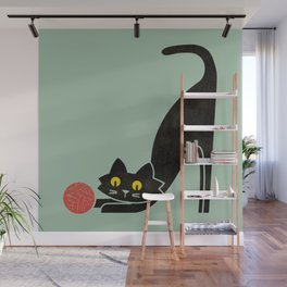 Fitz - the curious cat Wall Mural