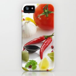 Pasta and their ingredients  iPhone Case