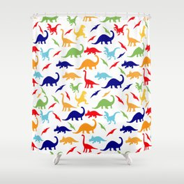Colorful Dinosaurs Pattern Shower Curtain