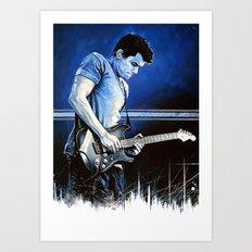 John Mayer Blues Art Print
