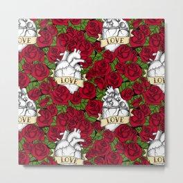 Heart and Roses_Love Metal Print