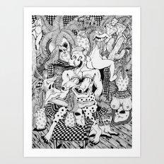 Man in Living Room Art Print