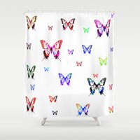 butterflies Shower Curtains featuring Butterflies. by haroulita