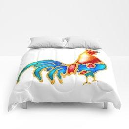 Colourful crowing Cockerel  Comforters