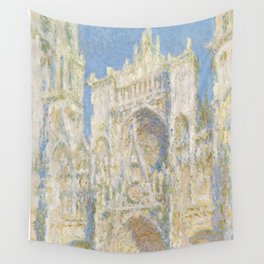 Claude Monet - Rouen Cathedral, West Façade, Sunlight Wall Tapestry