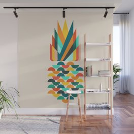 Groovy Pineapple Wall Mural
