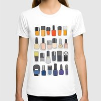 nail polish T-shirts featuring my nail polish collection by uzualsunday