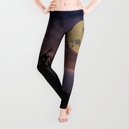 Halloween castle Leggings