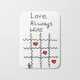Love always wins Bath Mat