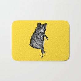 Ride On Bear_yellow Bath Mat