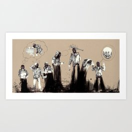 The whimpering robber Art Print