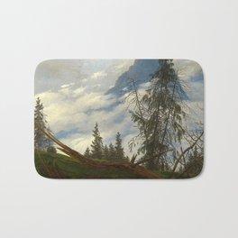 Caspar David Friedrich - Mountain Peak with Drifting Clouds (1835) Bath Mat