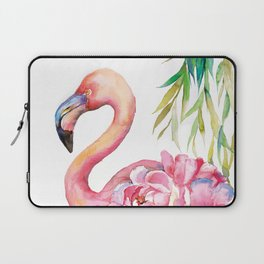 Pink Flamingо with Peony Wings Laptop Sleeve