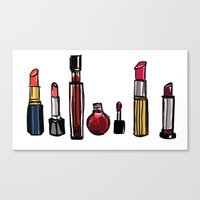 lipstick Canvas Prints featuring Lipstick by Kayla Phan