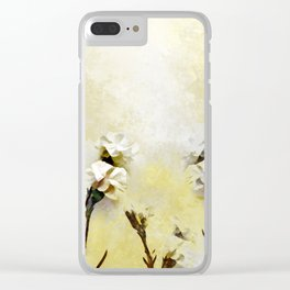 Flower watercolor Clear iPhone Case